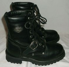 b6cccc9b2404 Harley Davidson Men s Motorcycle Leather Boots Black Size 7.5 91003   fashion  clothing  shoes