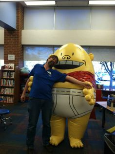 Our fearless leader hanging out with Captain Underpants at Boise Public Library. Thanks to author Dav Pilkey for coming to visit!