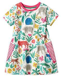JOULES GIRLS FLUTTER Ruffle Summer Tunic Top RRP £29 BLUE Floral BRAND NEW
