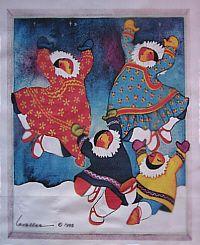 Celebration Fabric Panel-Barbara Lavallee