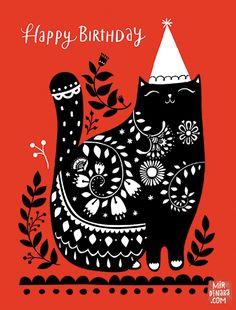 mirdinara_cards_happy birthday cat