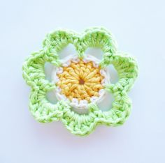 ANNEMARIE'S CROCHET BLOG ♥ ANNEMARIE'S HAAKBLOG: Flower Week: Flower #1!