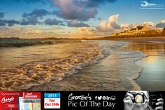 Calmer seas now at Cobo Bay. Lovely evening, time to top it off with a pint of Monty's in the Rocky! #LoveGuernsey http://chrisgeorgephotography.dphoto.com/#/album/cbc2cr/photo/19488281 Perrys Guide Ref: Page 13 H1 Picture Ref: 29_10_13 — in Guernsey.