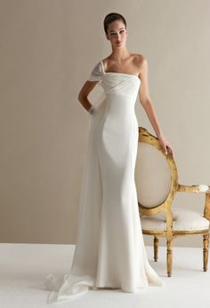 Mermaid Wedding Dresses - Characterized by luxurious fabrics, unconventional colors, unique detailing and silhouettes, the latest bridal collection of Antonio Riva wedding dresses is bold, creative and modern. Take a look and happy pinning! Elegant Wedding Dress, Designer Wedding Dresses, Bridal Dresses, Chiffon Dresses, Bridesmaid Gowns, Chiffon Gown, Fall Dresses, Long Dresses, Prom Dresses