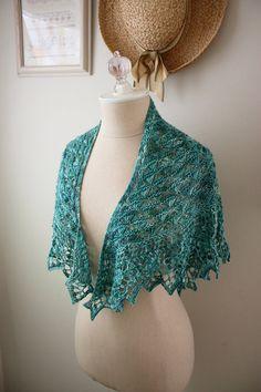 knit lace shawl $8 Etsy  Soleil