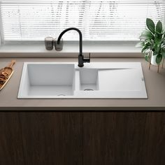 Small Kitchen Sink, Granite Kitchen Sinks, Kitchen Taps, Spice Things Up, Things To Come, Composite Sinks, Shower Fittings, White Granite, Bowl Designs