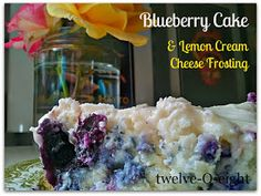 Gluten free Blueberry Cake With Lemon Cream Cheese Frosting