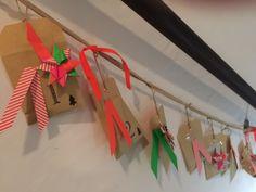 Popiger Adventskalender mit Papierdeko!