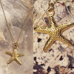 Star Fish gold necklace , bridesmaids . by EmeraldGreenJewelry on Etsy https://www.etsy.com/listing/497165234/star-fish-gold-necklace-bridesmaids