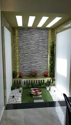 Kitchen Design For Small Indian House Pooja Room Door Design, Home Room Design, Home Interior Design, Living Room Designs, House Design, Kitchen Design, Magic Garden, Puja Room, Indian Homes