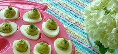 Yummy and Healthy Deviled Eggs from Chef Nancy Waldeck- perfect for Memorial Day cookouts!