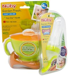 Cups, Dishes & Utensils Nuby Garden Fresh Food Pots With Lids Suitable For Men And Women Of All Ages In All Seasons