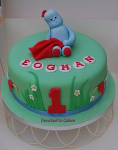 iggle piggle cake - Google Search First Birthday Cakes, 10th Birthday, 1st Birthday Parties, Birthday Ideas, Garden Cakes, Cakes For Boys, Celebration Cakes, Party Cakes, Cake Decorating