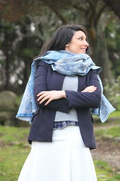 #bluemarine #fashion #midi #fashionblogger #moda #mode #blue #blazer #zara