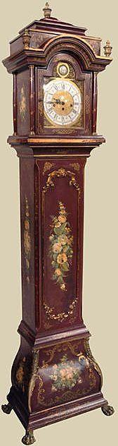 Italian Painted Long-Case Clock