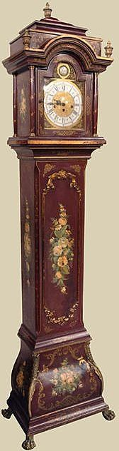 Italian Painted Long-Case Clock