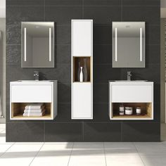 Shop the Hudson Reed Coast Wall Mounted Vanity Unit With Open Shelf & Basin in Gloss White Coco Bolo at Victorian Plumbing. Bathroom Wall Panels, Wall Mounted Vanity, Basin Vanity Unit, Vanity Units, Fitted Bathroom, Bathroom Pink, Vanity Bathroom, Bathroom Renos, Master Bathroom