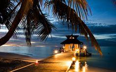Sunset at Bayan Tree Vabbinfaru, the Maldives