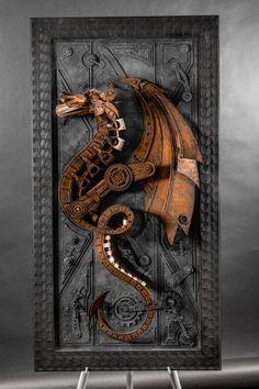 Cardboard monsters: Disealpunk sculptures by Lance Oscarson