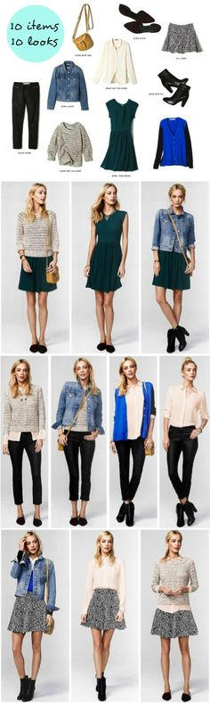 Style be 10x10 10 items, 10 outfits