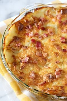 Creamy horseradish and bacon au gratin potatoes