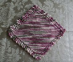 Ravelry: Picot-Edged Grandma's Favorite pattern by Debbie Warm Knit Dishcloth, Needles Sizes, Lily, Warm, Stitch, Blanket, Knitting, Ravelry, Crocheting