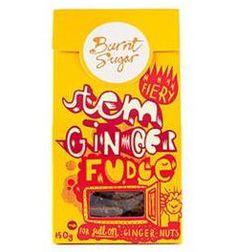 Burnt Sugar Ginger Stem Fudge - pehmeä inkinvääri kermakaramelli Sisältää: Maito Saattaa sisältää: Pähkinät, maapähkinä, kananmuna, soija