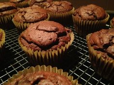 Chocolate beetroot and berry muffins