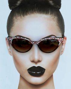 Retro Cateye Sunglasses, Sunglasses Cateye, Boho Sunglasses, 1950's Sunglasses, Brown Sunglasses