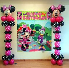 Minnie Mouse Balloon Columns