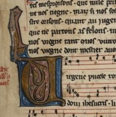 Elizabeth Eva Leach expose sur son blog le détail d'un chansonnier médiéval