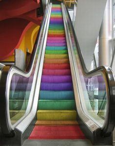 rainbow escalator!