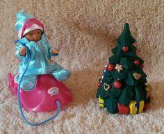 Zapf, Mini Baby Born Puppe, Winter, Schlitten, Weihnachten, Tanne, Zubehör, 8