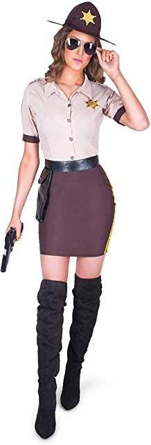 Police Woman Officer Patrol Uniform Halloween Costume Adult Women 01570