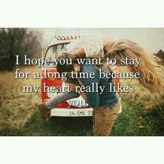 My heart really likes you.