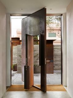 Front door inspiration - Architecture and Home Decor - Bedroom - Bathroom - Kitchen And Living Room Interior Design Decorating Ideas - Modern Front Door, Front Door Design, Modern Entry, Rustic Modern, Modern Industrial, Vintage Industrial, Industrial Design, Architecture Details, Interior Architecture