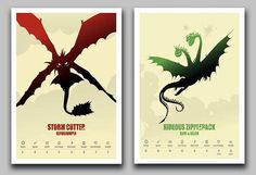 How to Train Your Dragon Minimalist Poster Set