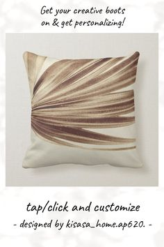 Copper Palm Leaf   Modern Minimalist Abstract Throw Pillow - tap to personalize and get yours #ThrowPillow #copper, #tropical, #palm, #modern, #palm Accent Pillows, Throw Pillows, Custom Pillows, Modern Minimalist, Palm, Copper, Tropical, Make It Yourself, Abstract