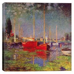 Bring gallery-worthy style to your decor with this lovely canvas print, depicting Claude Monet's Argenteuil.      Product: ...