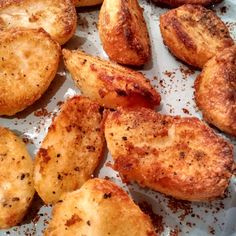This Aga roast potato recipe will give you crunchy crispy skinned roasties that explode into delicious soft whiteness when you bite into them!