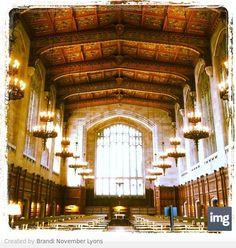 University of Michigan law library.  Ann Arbor, Michigan.