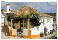 Óbidos, Portugal Love the front! Throughout The World, Around The Worlds, House Front Design, European House, Village Houses, Exotic Places, Algarve, Traditional House, Portuguese