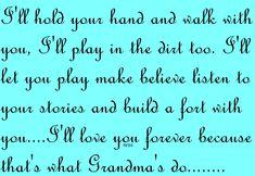 For my Grandchildren....my love will never fade.