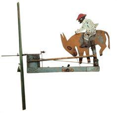 Bucking mule whirligig. Yoakum, Texas.