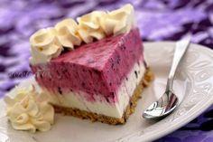 Moje Wypieki | Sernik z czarną porzeczką (na zimno) Gooseberry Recipes, Polish Desserts, Party Cakes, Cheesecakes, Cooking Recipes, Sweets, Baking, Easy, Food