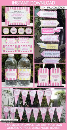 Carnival Party Invitations & Decorations full by SIMONEmadeit