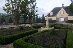 Landscape Lavendar Bed Front Entrance Formal Design, Pictures, Remodel, Decor and Ideas