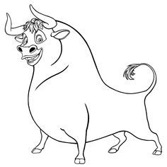 Ferdinand The Bull Ferdinand The Bulls Animal Coloring Pages
