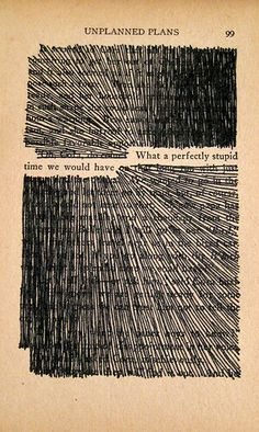 What a perfectly stupid time we would have. | Blackout poetry