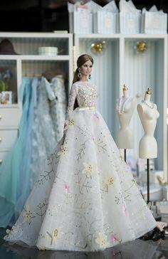 flower dress for fashion royalty Poppy Parker by Rimdoll on Etsy